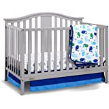 Graco Solano 4-in-1 Convertible Crib and Bonus Mattress, Pebble Gray