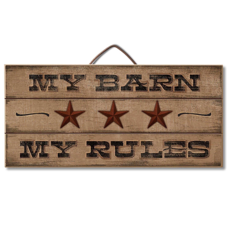 Amazon.de: Highland Graphics Western Decor Holz Zeichen My Barn, My ...