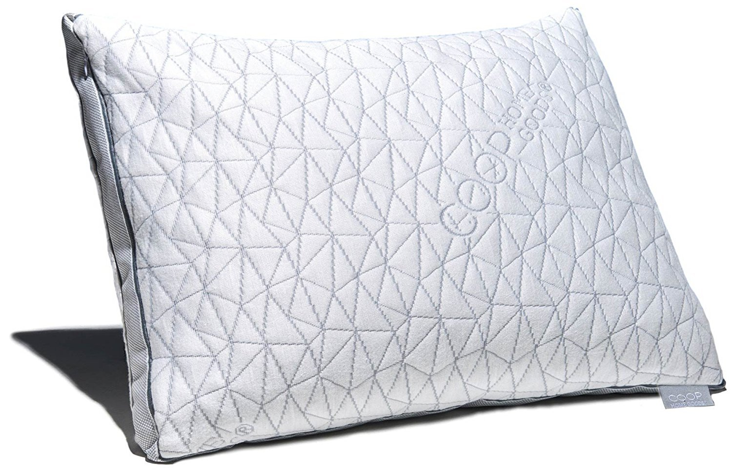 Coop Home Goods Eden Shredded Memory Foam Pillow with Cooling Zippered Cover and Adjustable Hypoallergenic Gel Infused Memory Foam Fill - Queen