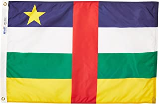 product image for Annin Flagmakers Model 191406 Central Africa Republic Flag Nylon SolarGuard NYL-Glo, 2x3 ft, 100% Made in USA to Official United Nations Design Specifications