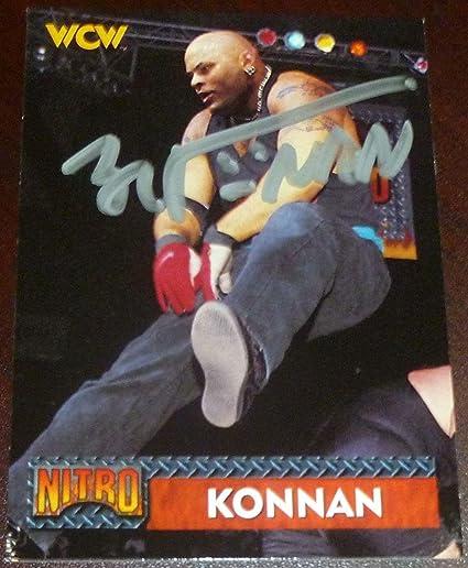 Konnan Signed 1999 Topps Wcw Nwo Card 30 Wwe Autograph Pro