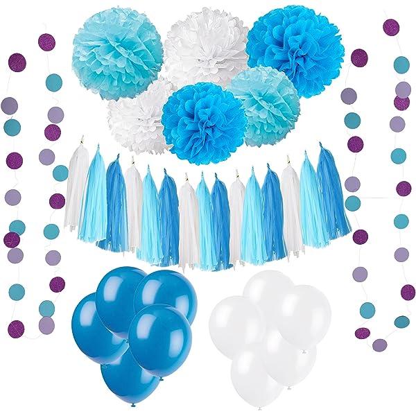 Papel de borla para decoración de fiestas de color turquesa ...