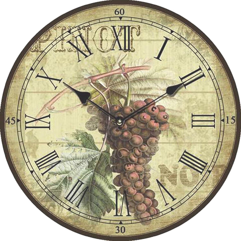 Reloj de pared con diseño de uva negra: Amazon.es: Hogar