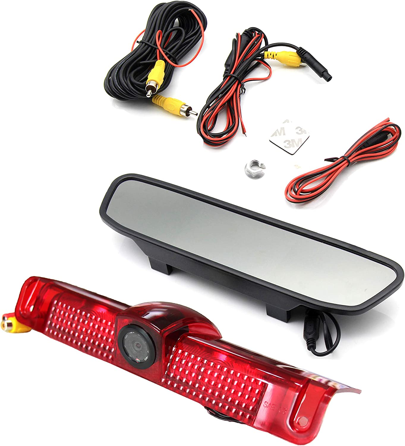 Backup Brake Light Rear View Camera Monitor For Chevrolet Express GMC Savana Van