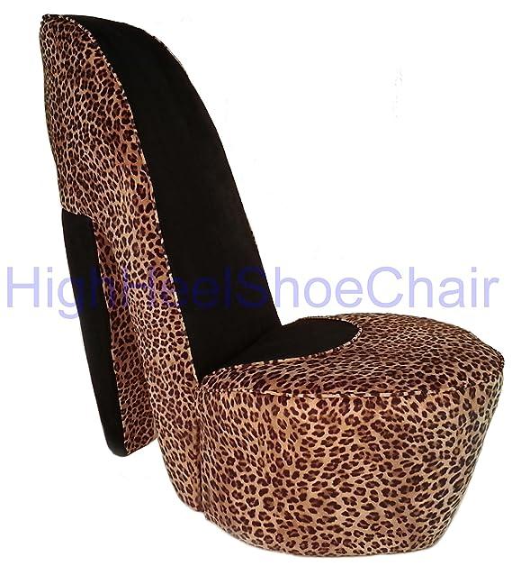 Greatest Amazon.com: Leopard High Heel Shoe Chair: Kitchen & Dining JP15