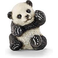 Schleich SC14734 Panda Cub Playing Figurine, black/white