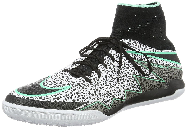 Nike Herren Hypervenomx Proximo IC Fuszlig;ballschuhe, Stealth/Weiss, 44 EU  45.5 EU|Mehrfarbig (White/Black-green Glow-grn Glw)