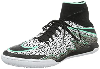 57acb1ab2aaf NIKE Hypervenomx Proximo Street Turf Soccer Shoes (White Green Glow Black) (