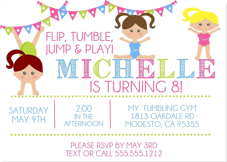 Amazon Gymnastics Birthday Party Invitations Handmade