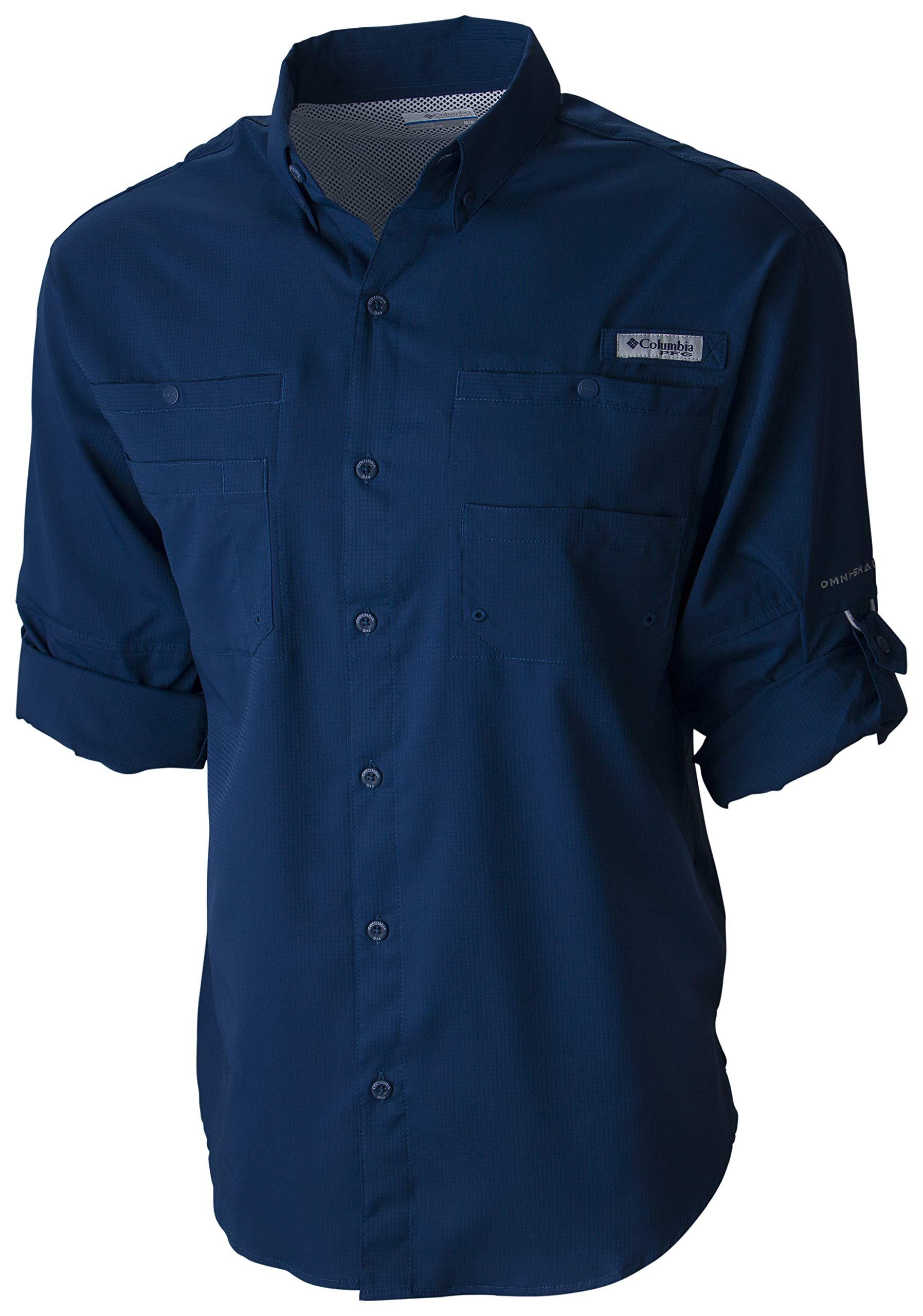 Columbia Men's PFG Tamiami II Long Sleeve Shirt , Carbon, X-Large