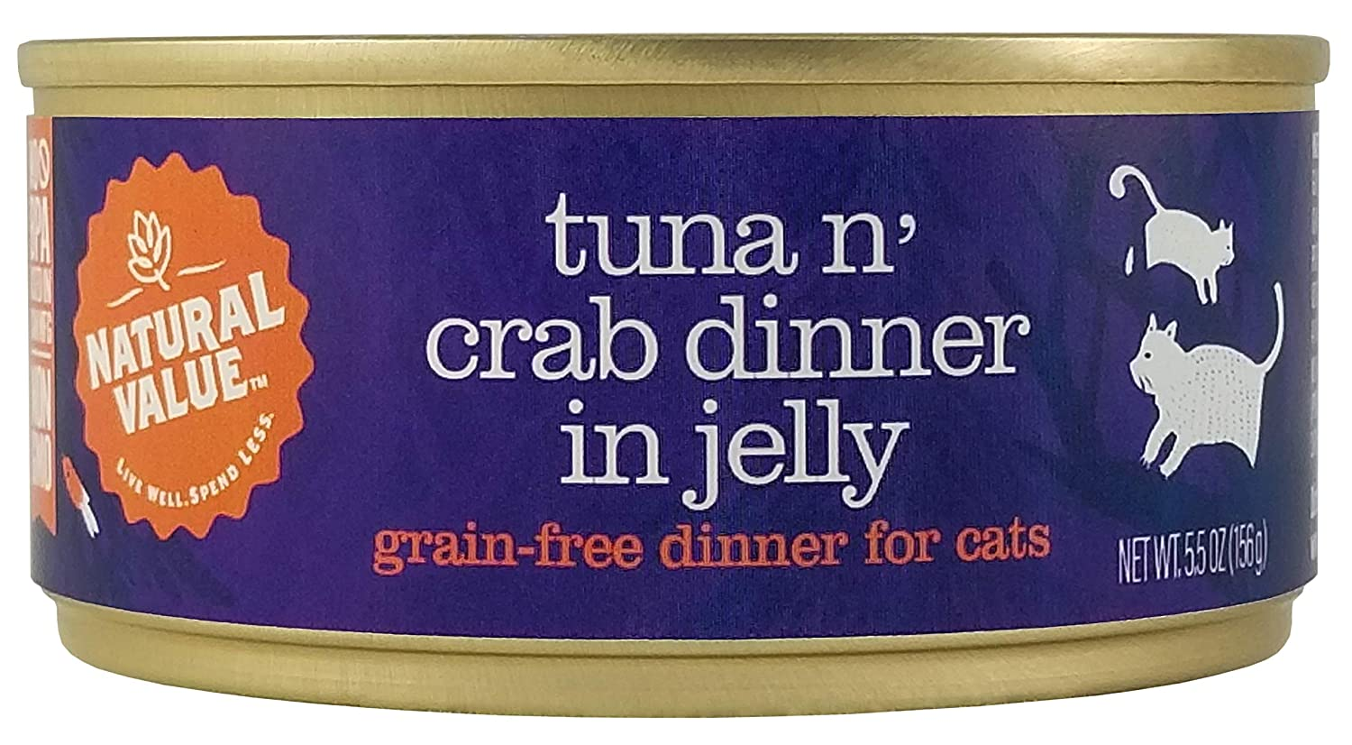 Natural Value Cat Food Tuna 'N' Toppings with Crab (Grain Free), 5oz (Pack Of 24)