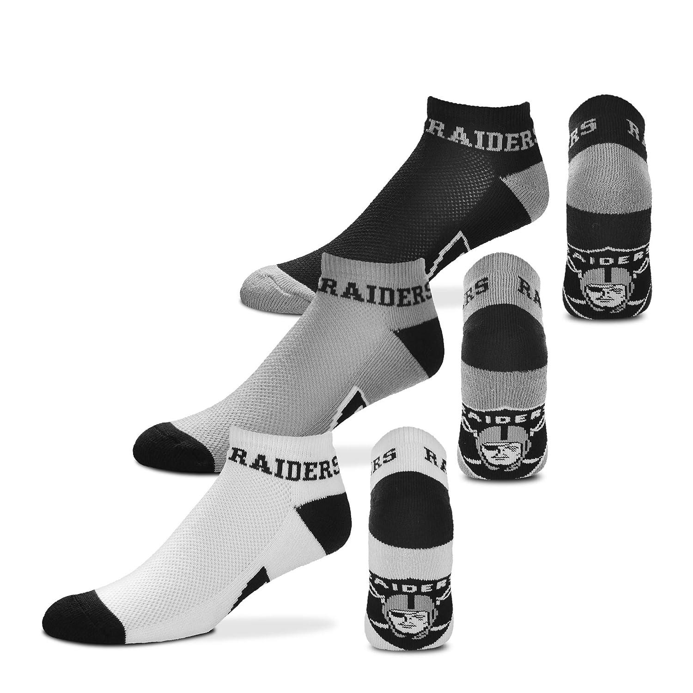 Oakland Raiders For Bare FeetMoney No-Show Ankle Socks 3 Pack