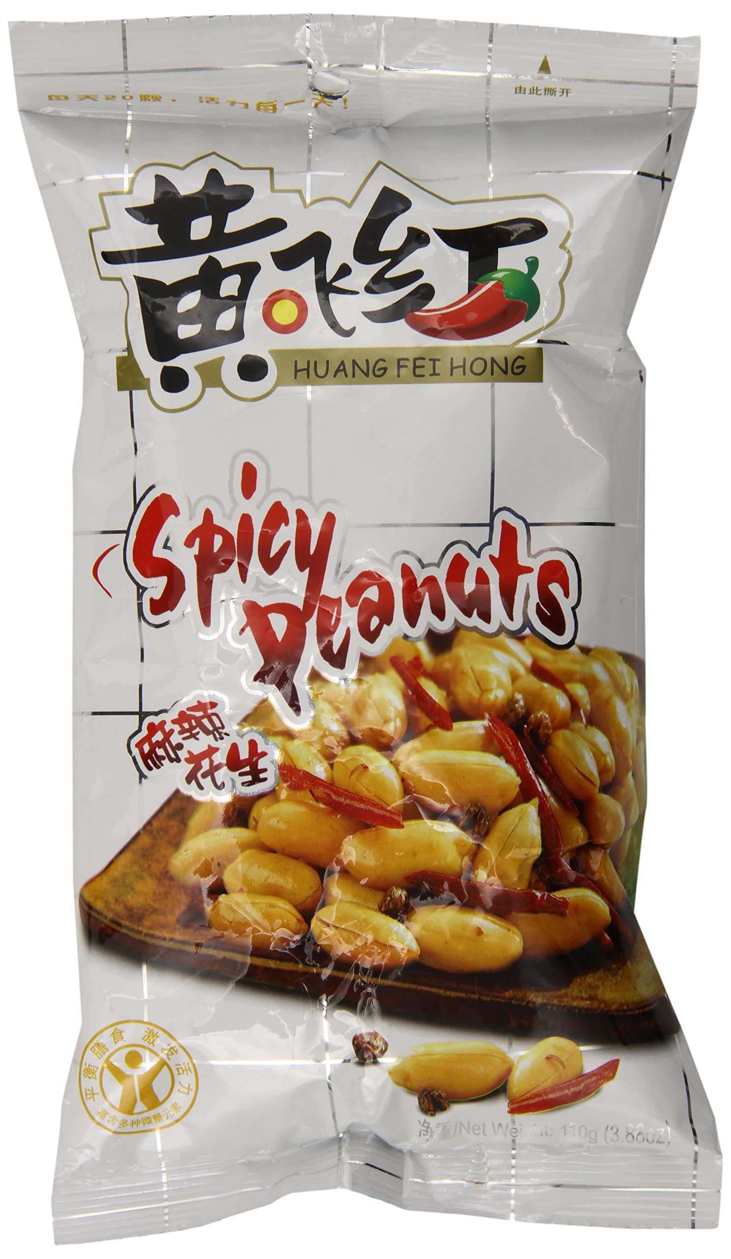 HuangFeiHong 6 Count, Spicy Crispy Peanut, 3.38 oz.