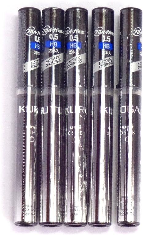 Blue Case uni KURU-TOGA Mechanical Pencil Lead 0.5mm B 20-pcs