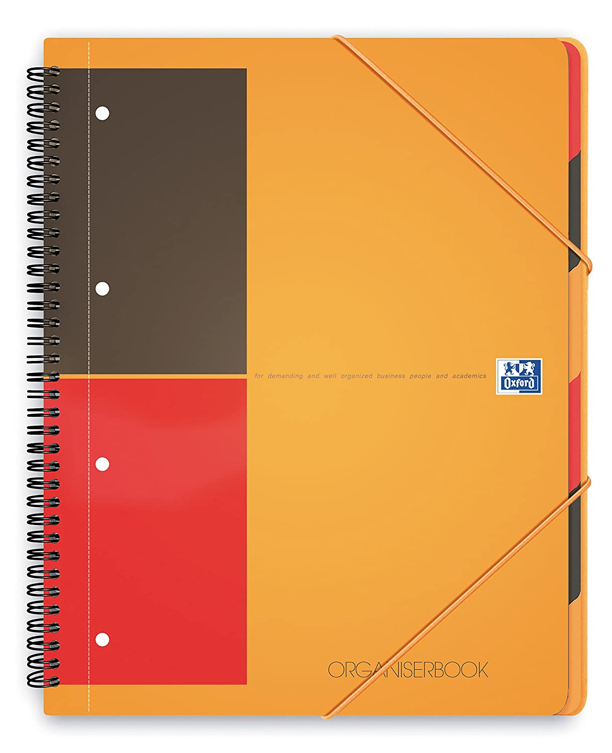 Oxford International Organiserbook Cahier A4+ Polypro 160 Pages Petits Carreaux 5 x 5 100102777