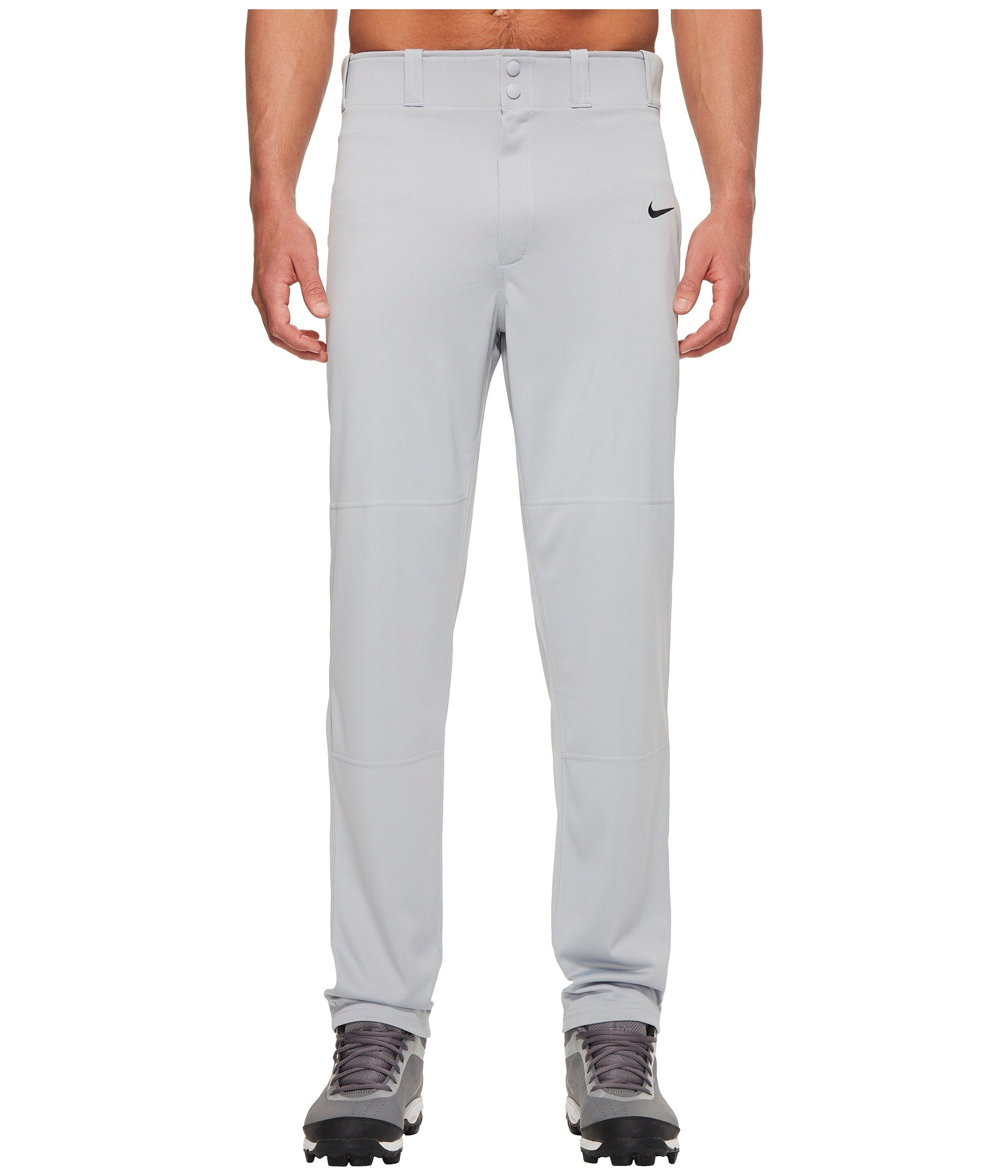 Nike Men's Core Dri Fit Open Hem Baseball Pant Blue Grey/Black Size Small by Nike (Image #1)