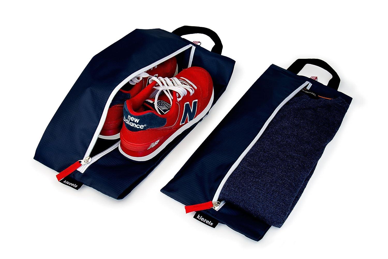 Kiezels - conjunto de 2 bolsas ligeras para zapatos / bolsas organizadoras - cielo azul 4Q8iKl1