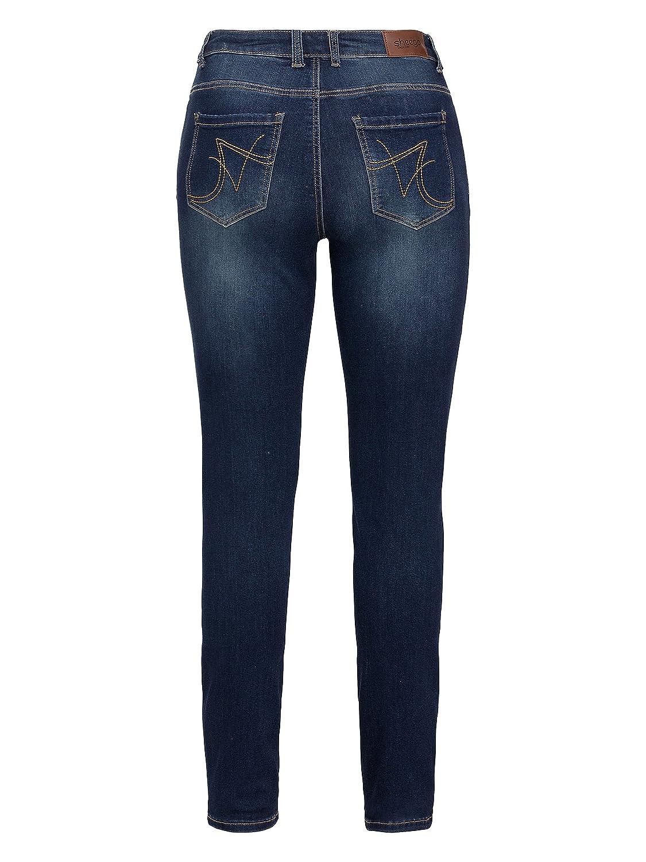 003 Sheego Stretch Jeans Hose Damen Gr 44-58 Schwarz