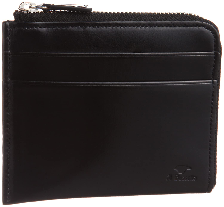 [イルブセット] Il Bussetto L字ファスナー財布 B00DU61VHW ブラック ブラック