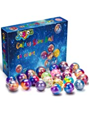 Joyjoz 24 Packs Party Favor Galaxy Putty Slime Balls, Fluffy & Stretchy Slime Easter Eggs for Girls & Boys - Non-Sticky, Stress Relief, Super Soft & Squishy
