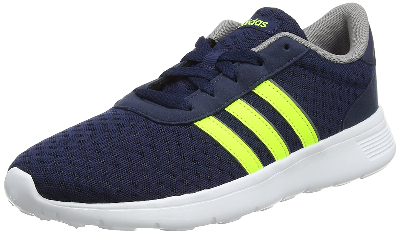 adidas Unisex-Erwachsene Lite Racer Sneaker  43 1/3 EU|Blau (Collegiate Navy/Solar Yellow/Grey Three 0)
