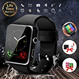 Bluetooth Smart Watch with Camera, Touchscreen Smart Wrist Watch with Sim Card Slot, Camera Controller Bluetooth Watch Unlocked Smart Watch Phone for iPhone Android Samsung Men Women