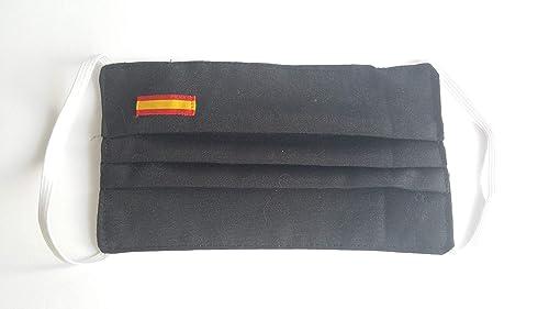 Pack 2 negro hombre bandera de España doble tela: Amazon.es: Handmade