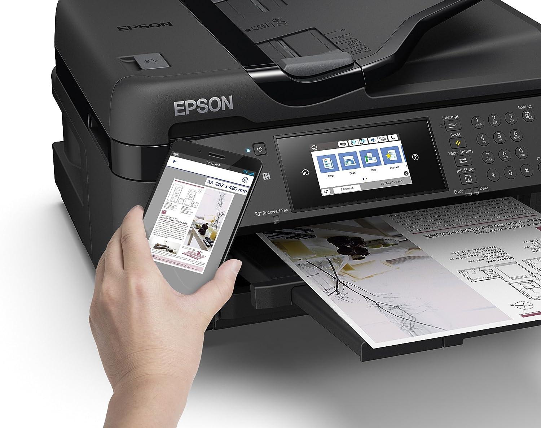 Epson WorkForce WF-7715DWF - Impresora, color negro: Epson: Amazon ...