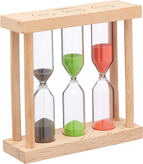 Le Xpress Wood /& Glass Kitchen Hourglass Sand Tea Brewing Timer Gadget Gift Idea
