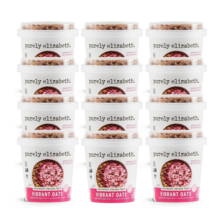 Purely Elizabeth Gluten-Free Vibrant Oats Cup, Raspberry Dragon Fruit (12 Ct.)