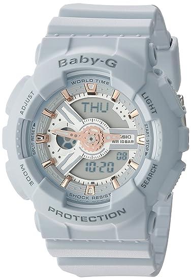08595e5f651e4 Image Unavailable. Image not available for. Colour  Casio Women s Baby-G  BA110GA-8A Grey Silicone Quartz Watch