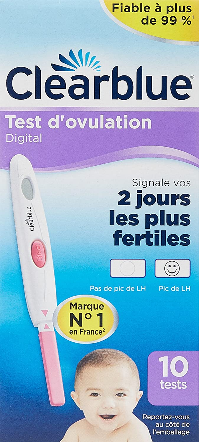 Amazon.com: Clearblue Test dOvulation Boite de 10 tests: Health & Personal Care