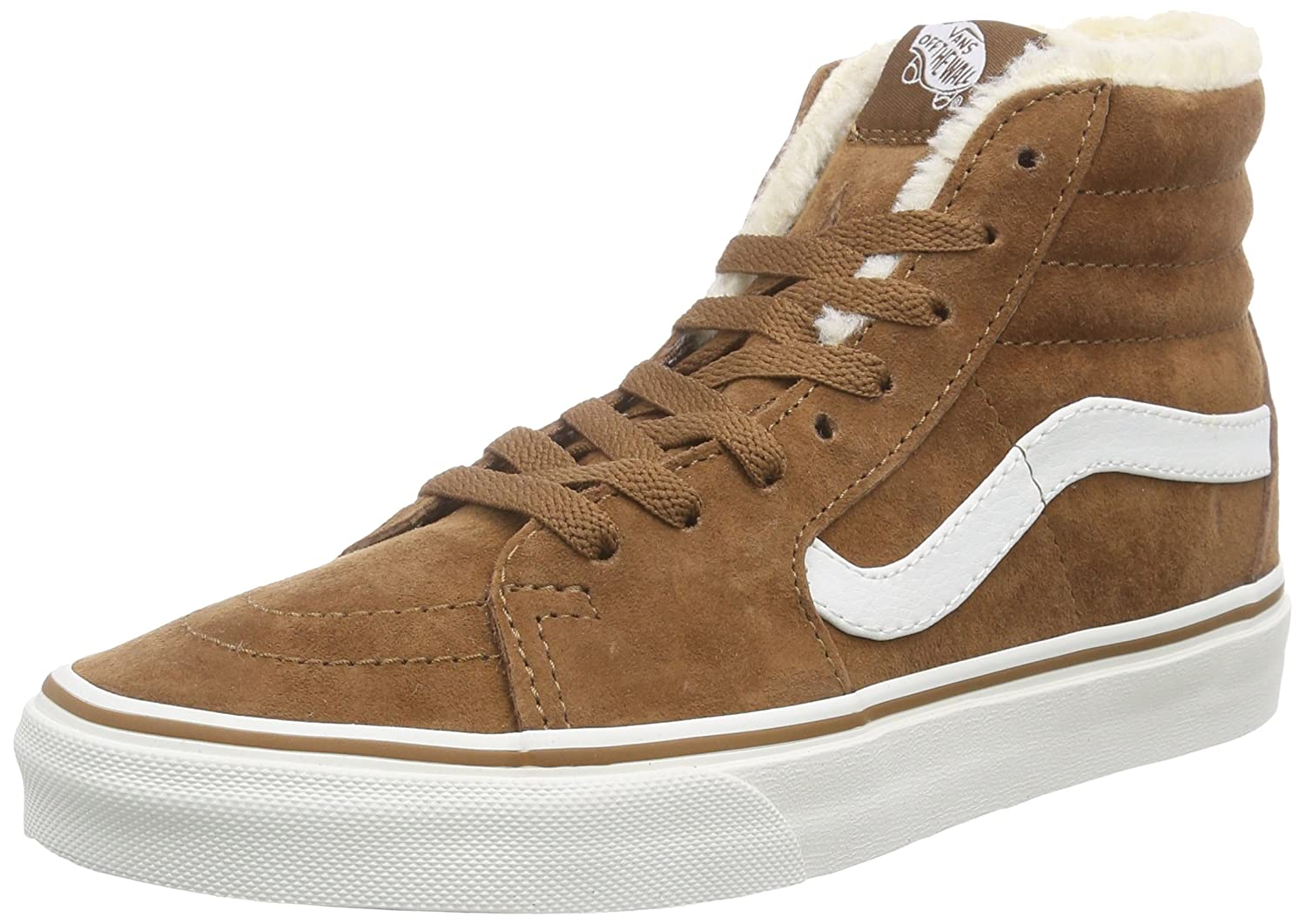 Vans Unisex Sk8-Hi Reissue Skate Shoes B00T82BTF6 10.5 M US Women / 9 M US Men|(Pig Suede/Fleece) Monk's Robe/Blanc