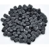 Cutequeen 100pcs Black Plastic Tire Rim Wheel Valve Stem Caps - Black Color