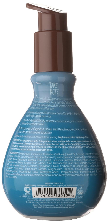 Designer Skin Take Note Dark Bronzer Tanning Lotion, 8 Fluid Ounce
