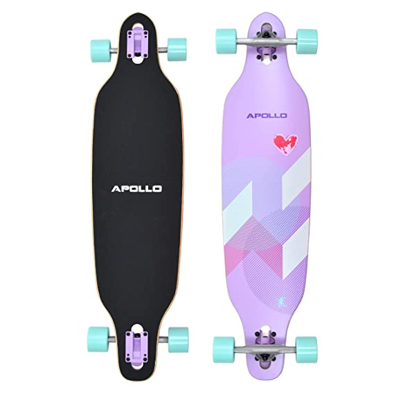 Apollo Longboard edición Especial Tabla Completa, con rodamientos de Bolas ABEC Alta velocidad, Drop-Through Freeride Skate Cruiser Boards