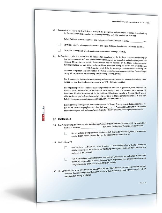Mietvertrag gewerbliche Räume (DOC) - Gewerbemietvertrag für ...