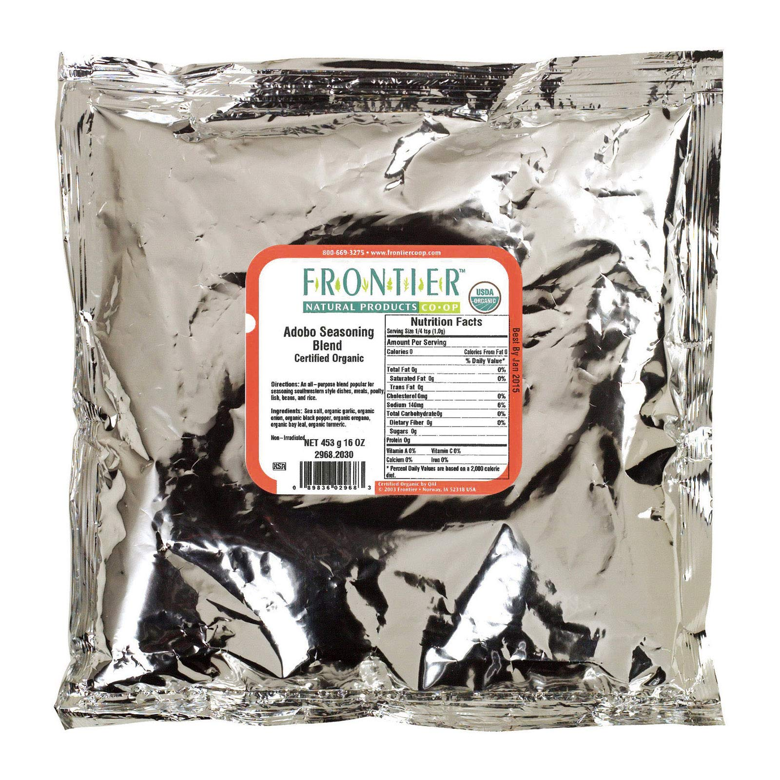 Frontier Herb Organic Adobo Seasoning, 1 Pound - 1 each. by Frontier (Image #1)