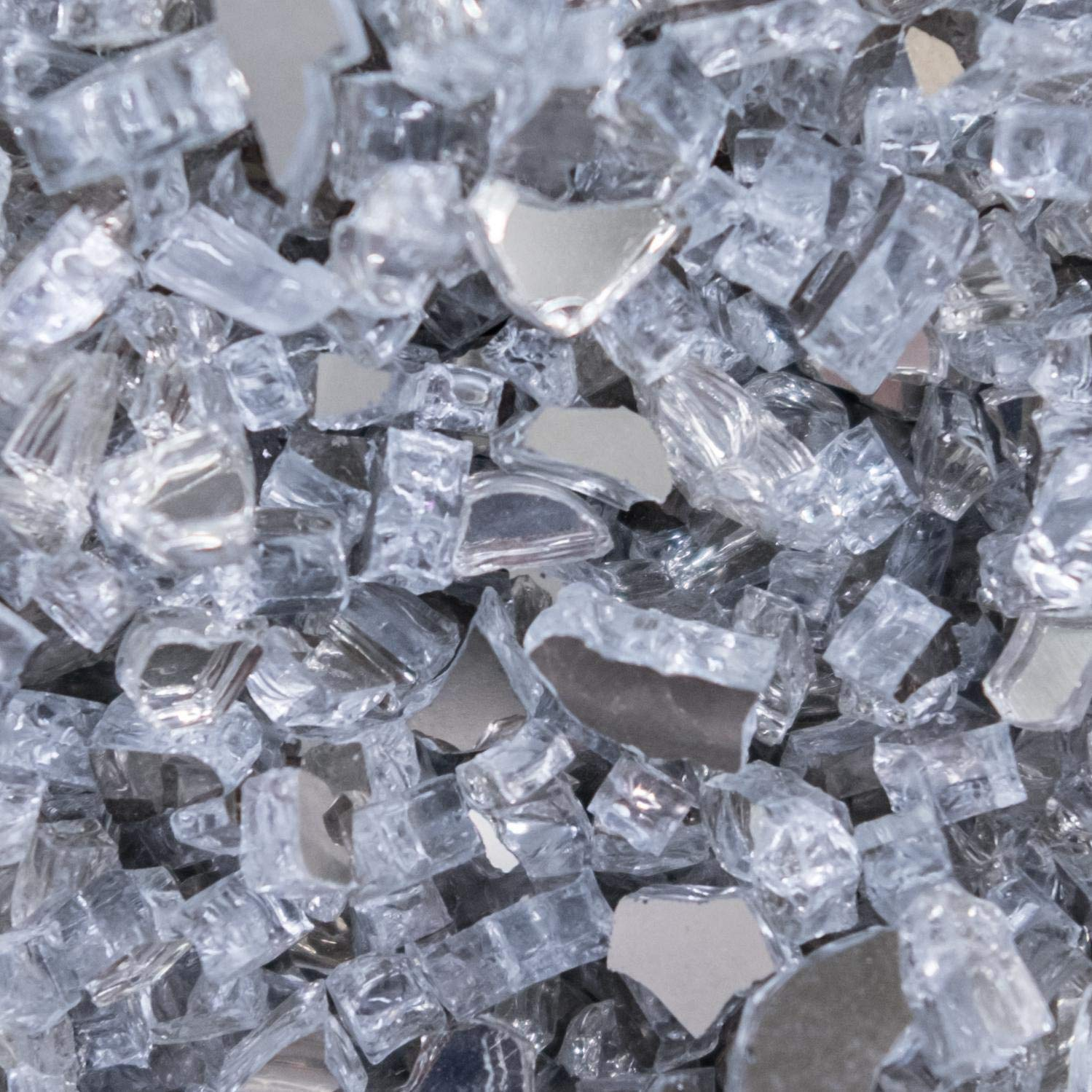 Lakeview Outdoor Designs 1/4-Inch Diamond Clear Reflective Fire Glass - 80 Pounds