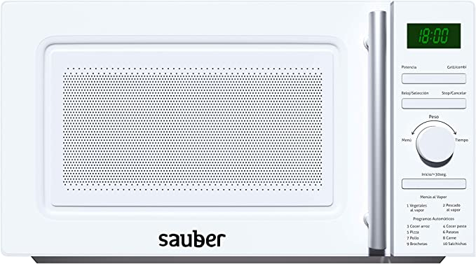 Sauber - Microondas AL VAPOR - Con GRILL - SERIE 3-21WG