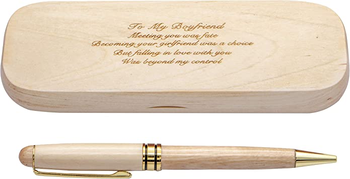 PERSONALISED ENGRAVED WOODEN PEN  WEDDING,CELEBRATION THANK YOU GIFT