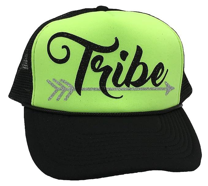 ff7c38cdf25 Bachelorette Party Bride Tribe Mesh Trucker Snap Back Hat (Neon Green Black  Hat