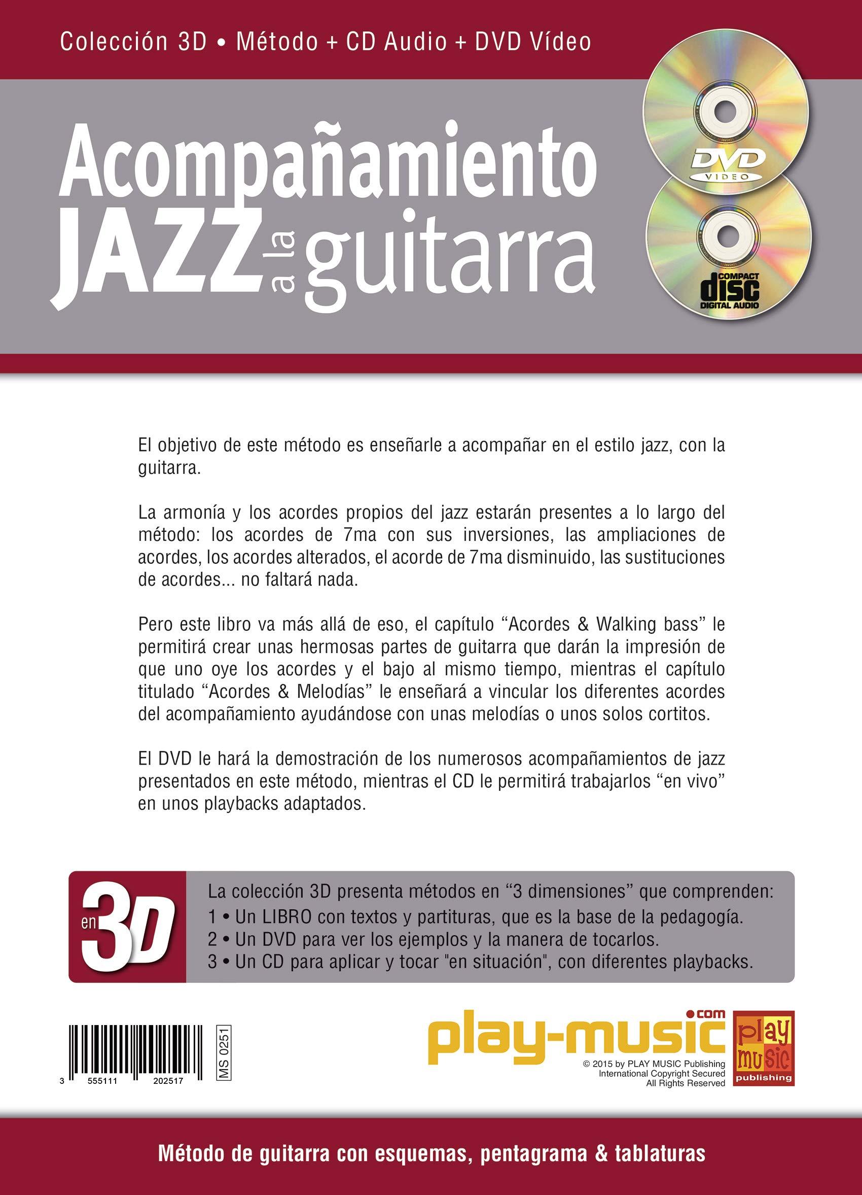 Acompañamiento jazz a la guitarra en 3D - 1 Libro + 1 CD + 1 DVD ...