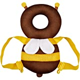 Baby Toddlers Head Protective [Summer Breathable ] Adjustable Infant Safety Pads For Baby Walkers Protective Head and Shoulder Protector Prevent Head Injured Fit Age 4-24 Months (Summer - brown)