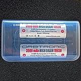 3500mAh 18650 HIGH DRAIN Orbtronic 3.7V Li-ion