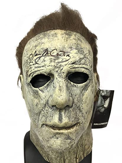 Halloween 2018 Michael Myers Mask.Amazon Com James Jude Courtney Autograph Halloween 2018 Mask