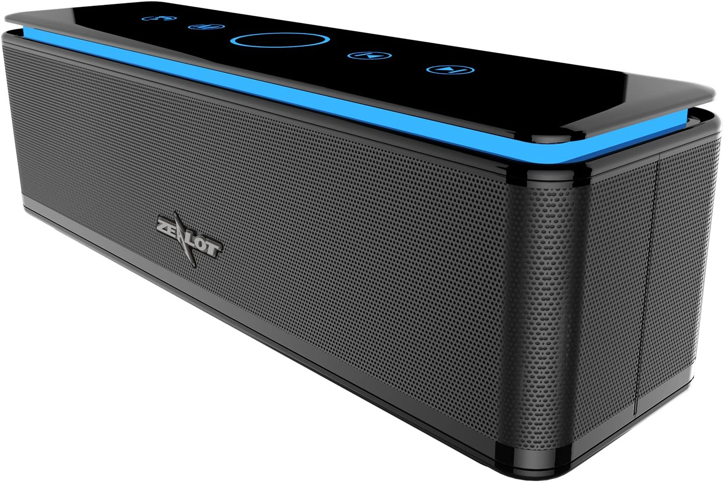 [Upgraded] ZEALOT S7 Pro Portable Bluetooth Speakers Wireless Loud Clear Stereo Sound BT 5.0, IPX5 Water Resistant,Enhanced Bass 26W Power Outdoor Speaker with 10000mAh Battery, 24-Hour Playtime