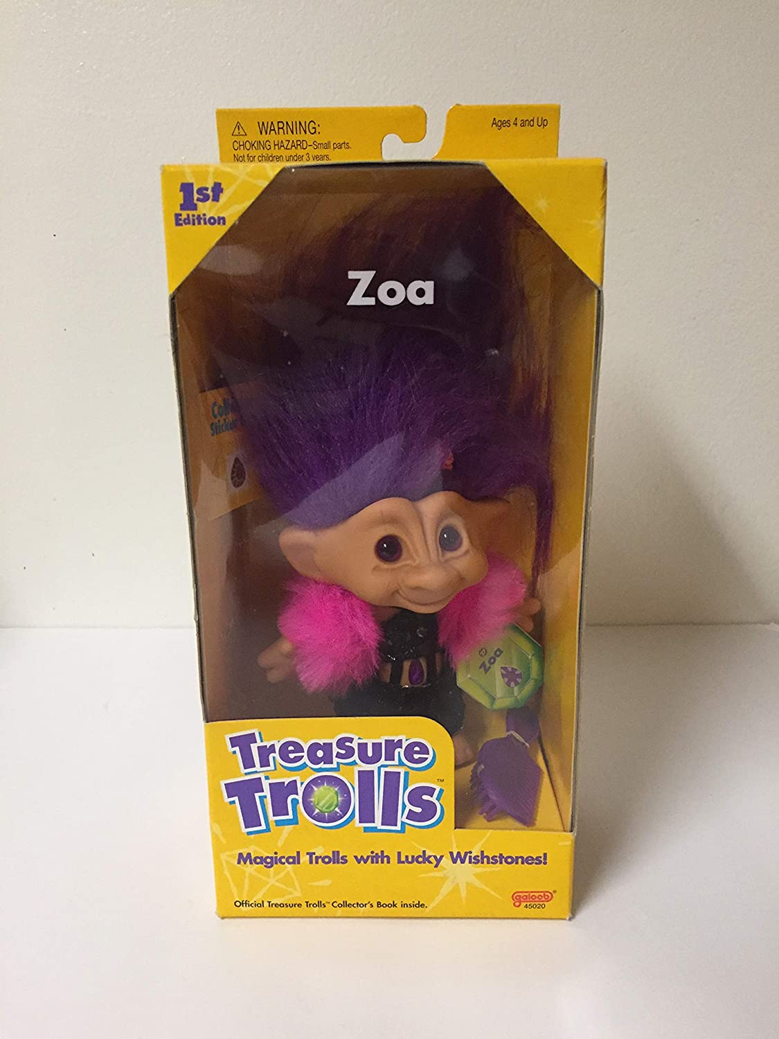 Amazon.com: Treasure Trolls By Galoob - ZOA: Toys & Games
