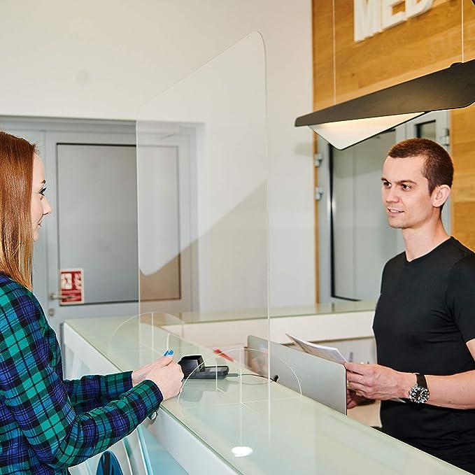 Protezione plexiglas in vetro acrilico Parete di protezione trasparente in plexiglas Pannelli in plexiglas incolore 100 x 50 cm