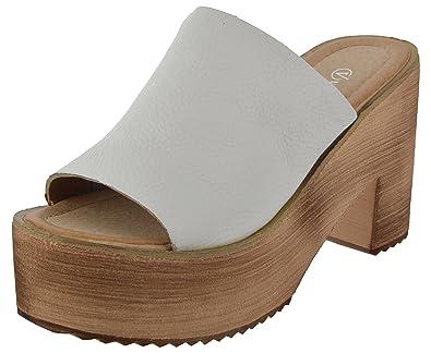 cce2c275a VENUS STEPS Women s White Leather Fashion Sandals - (6 UK (39 EU) Months